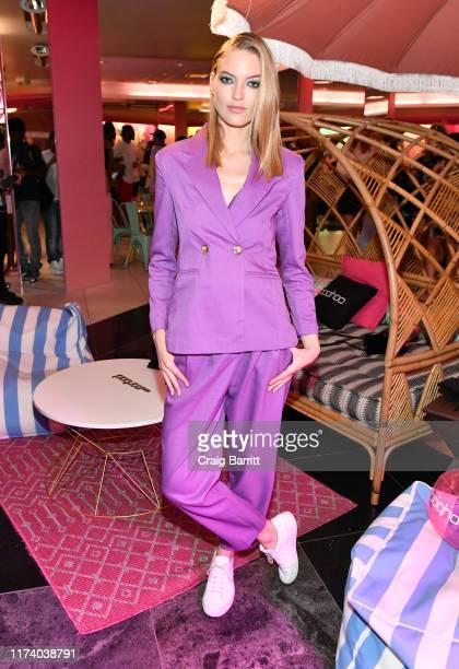 Martha Hunt attends the boohoo NYFW celebration at the boohoo Mansion on September 11 2019 in New York City