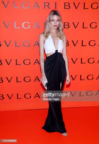 Martha Hunt attends the Bvlgari B.zero1 Rock collection event at Duggal Greenhouse on February 06, 2020 in Brooklyn, New York.