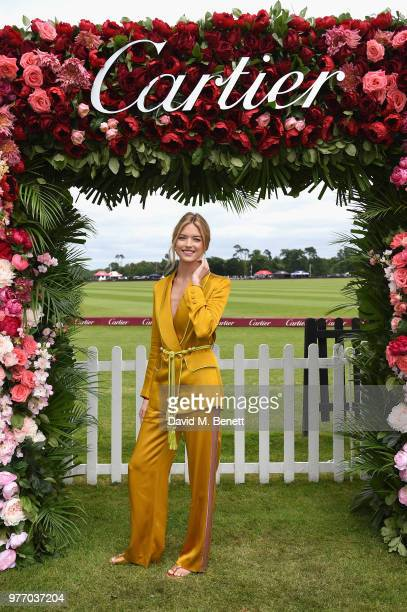 Martha Hunt attends the Cartier Queen's Cup Polo at Guards Polo Club on June 17 2018 in Egham England