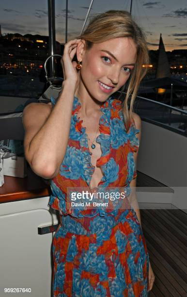 Martha Hunt attends the Lark and Berry launch party on a private yacht during the 71st Cannes Film Festival on May 16 2018 in Cannes France