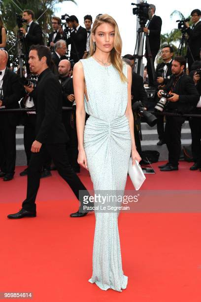 Martha Hunt attends the screening of The Wild Pear Tree during the 71st annual Cannes Film Festival at Palais des Festivals on May 18 2018 in Cannes...