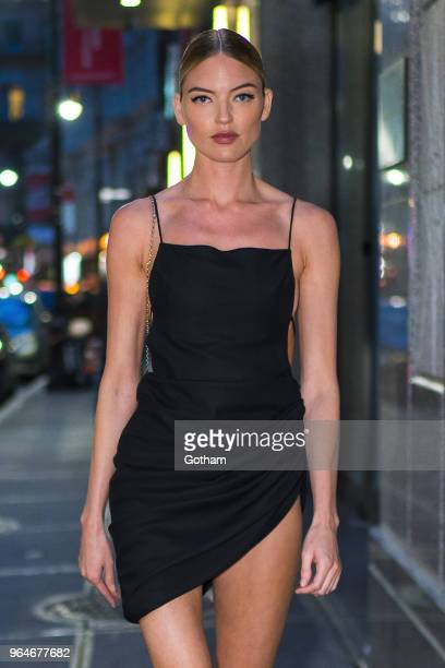Martha Hunt attends the US book launch of 'Backstage Secrets by Russell James' at the Alley Cat in the Financial District on May 31 2018 in New York...