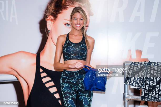 Martha Hunt and Andrea Rogers attend Train Like an Angel at Table 399 on September 18 2018 in New York City