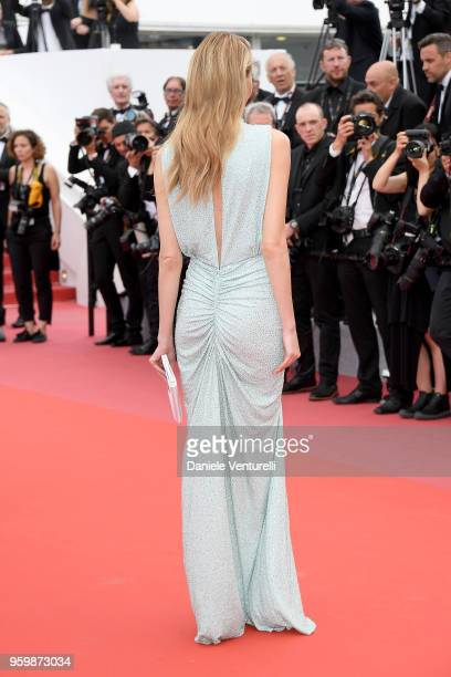 Martha Hunt back detail attends the screening of The Wild Pear Tree during the 71st annual Cannes Film Festival at Palais des Festivals on May 18...