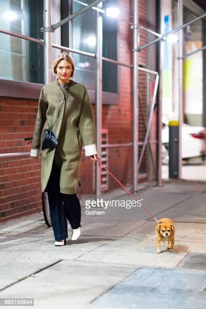 Martha Hunt is seen in Chelsea on December 14 2017 in New York City