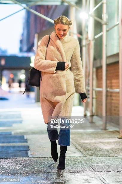 Martha Hunt is seen in Chelsea on January 8 2018 in New York City