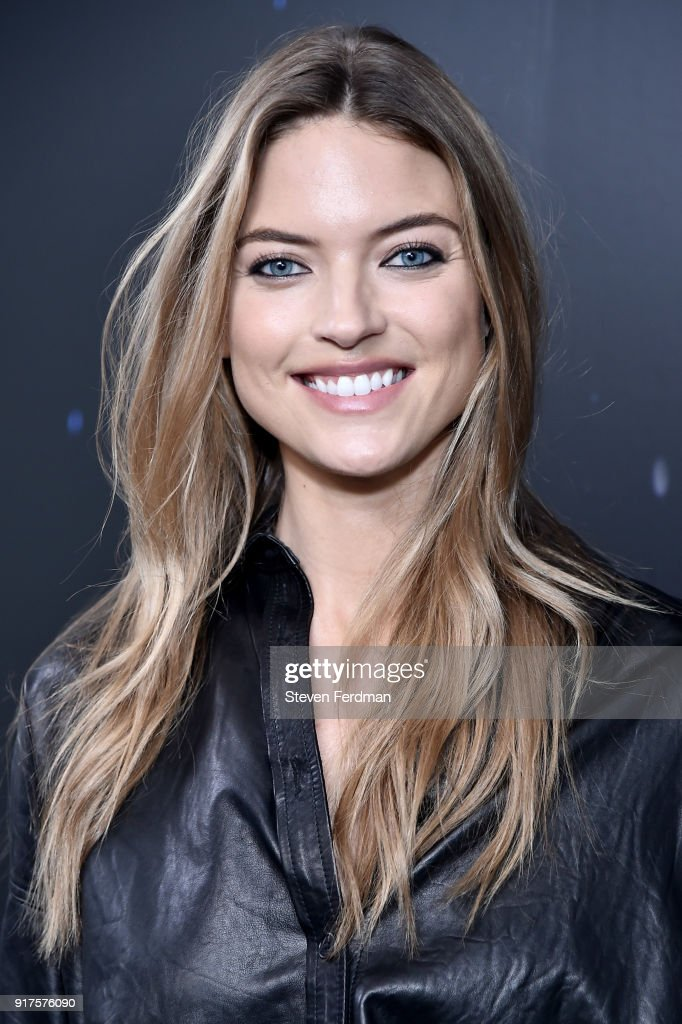 Martha Hunt poses backstage for the Zadig & Voltaire fashion show during New York Fashion Week at Cedar Lake Studios on February 12, 2018 in New York City.