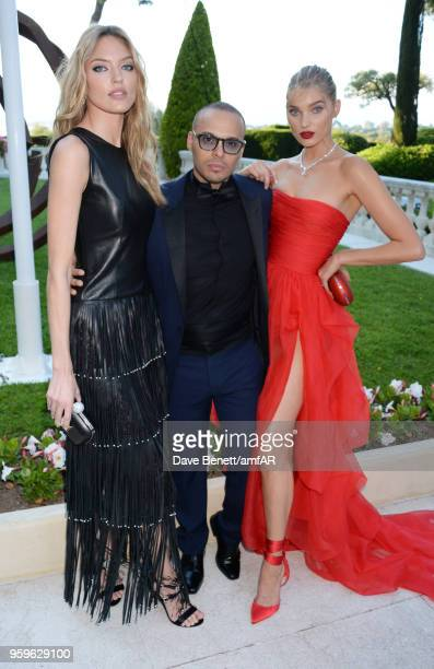 Martha Hunt Richie Akiva and Elsa Hosk arrive at the amfAR Gala Cannes 2018 at Hotel du CapEdenRoc on May 17 2018 in Cap d'Antibes France