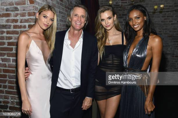 Martha Hunt Russell James Josephine Skriver and Jasmine Tookes attend a private dinner hosted by Cindy Crawford Ed Razek and Russell James...