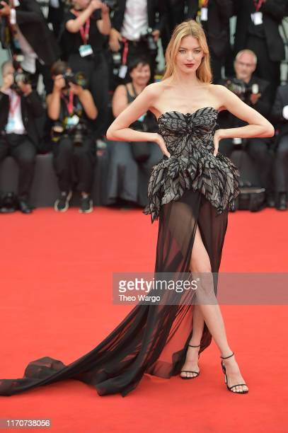Martha Hunt walks the red carpet ahead of the Opening Ceremony and the La Vérité screening during the 76th Venice Film Festival at Sala Grande on...