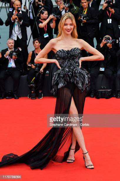 Martha Hunt walks the red carpet ahead of the opening ceremony during the 76th Venice Film Festival at Sala Casino on August 28, 2019 in Venice,...