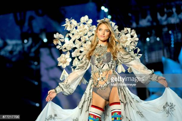 Martha Hunt walks the runway during the 2017 Victoria's Secret Fashion Show In Shanghai at MercedesBenz Arena on November 20 2017 in Shanghai China