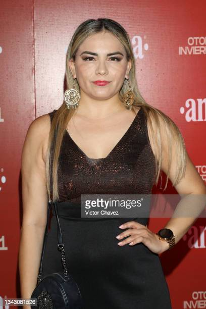 Martha Idalia Parra attends the presentation of the Fall/Winter collection by Andrea at TV Azteca Ajusco on September 26, 2021 in Mexico City, Mexico.