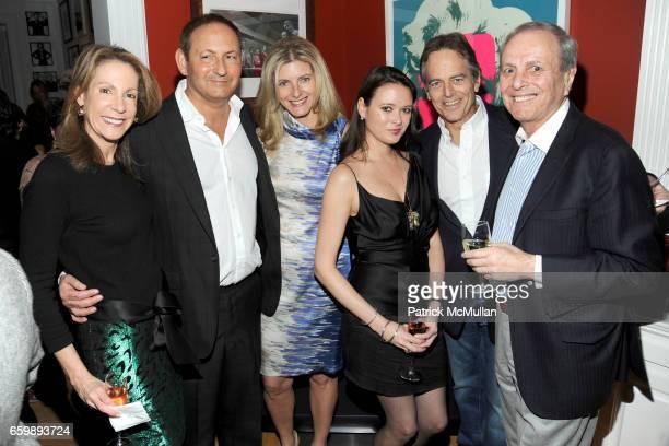Martha Kramer Fox, John Demsey, Faith Stengel, Christina Pressman, Gene Pressman and Neal Fox attend JOHN DEMSEY Holiday Party at Private Residence...