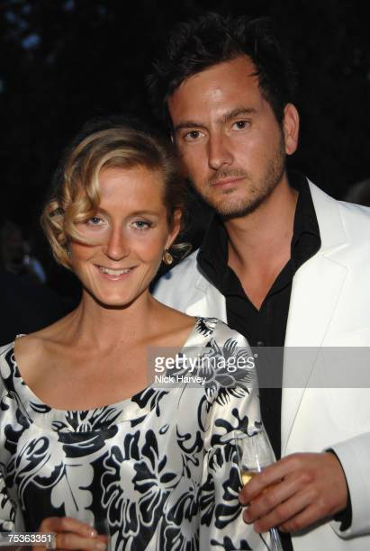 Martha LaneFox and Chris Gorel Barnes attends the Serpentine Gallery Summer Party 2007 held at the Serpentine Gallery Hyde Park on July 11 2007 in...