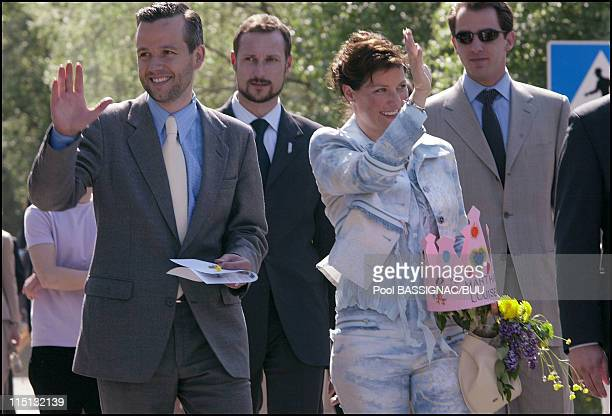 Martha Louise and Ari Behn in the streets in Trondheim Norway on May 23 2002 Princess Martha Louise and Ari Behn walking in the streets after...