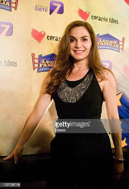 Martha Mariana Castro attends to the presentation of the tv serie Lucho en Familia at the Camino Real Hotel on March 23 2011 in Tlalnepantla Mexico