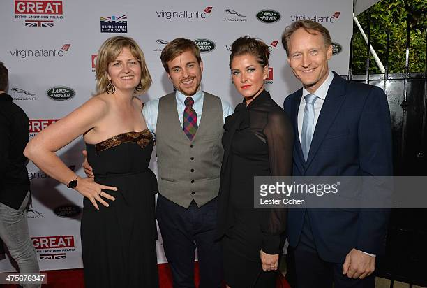 Martha Nelems, Kevin Bishop, Casta Bishop and British Consul General in Los Angeles Chris O'Connor attend the 2014 GREAT British Oscar Reception at...