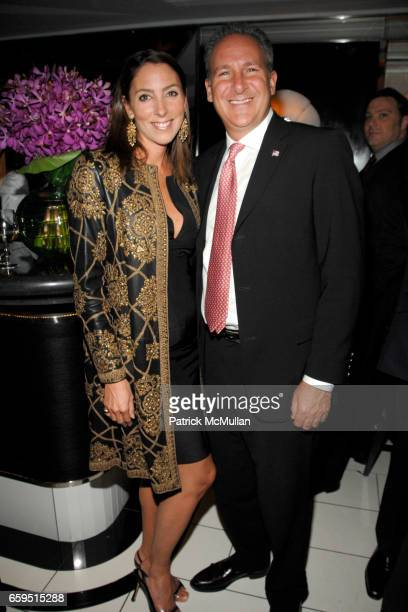 Martha O'Brien and Peter Schiff attend Le Caprice Preview Dinner at Le Caprice on October 21 2009 in New York City