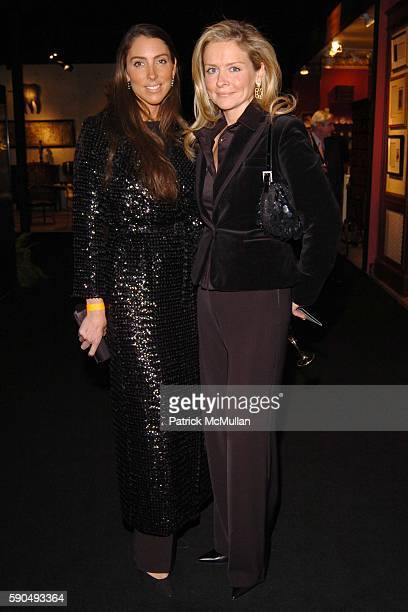 Martha O'Brien and Susan Bodner attend The 51st Annual Winter Antiques Show Young Collector's Night at The Seventh Regiment Armory on January 27 2005...