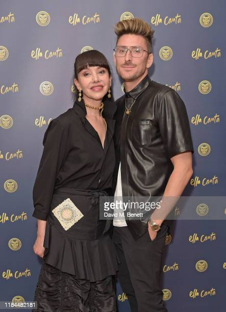 Martha Ortiz and Henry Holland attend Ella Canta's Day of the Dead celebration on October 30 2019 in London England