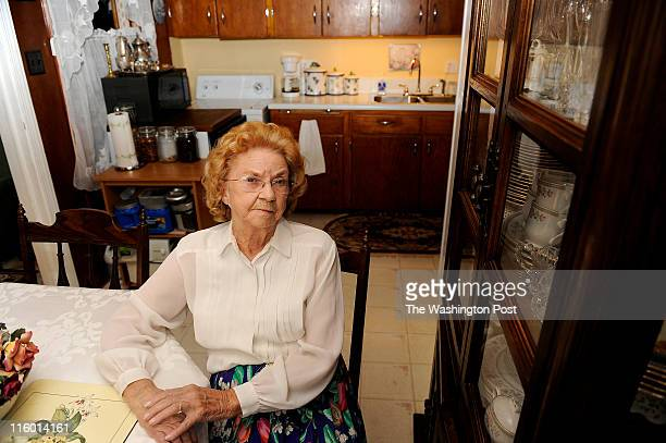 Martha Patton Hillwood Square resident since 1961 sits in the kitchen of her home on June 08 2011 in Falls Church VA The kitchen cabinets are...