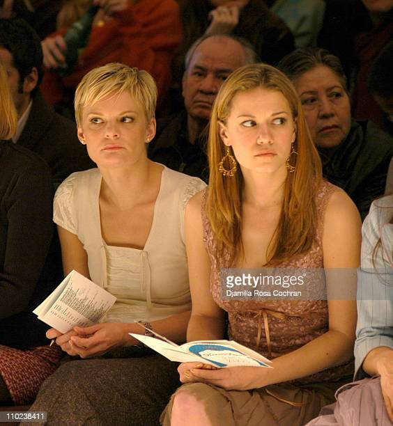 Martha Plimpton and Bethany Joy Lenz during Olympus Fashion Week Fall 2005 Nanette Lepore Front Row at The Plaza Bryant Park in New York City New...