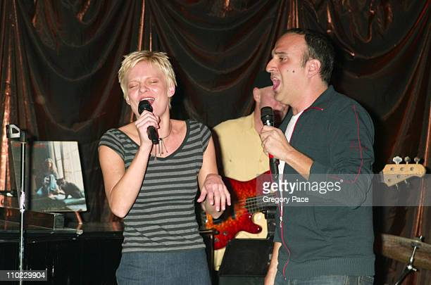 Martha Plimpton and Julian Fleischer during People Magazine Presents Tapestry of Entertainers Coming Together to Benefit the Drama Dept at Lot 61 in...