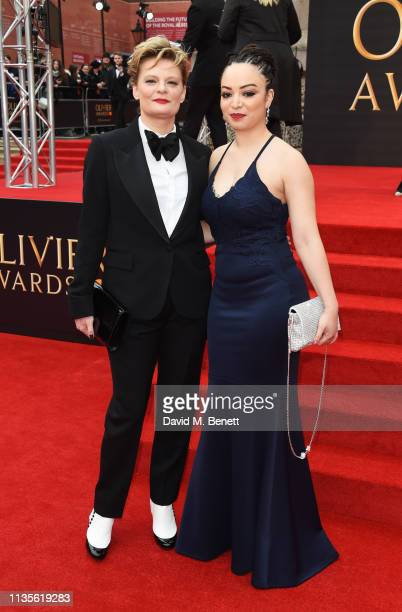 Martha Plimpton and Lynette Linton attend The Olivier Awards 2019 with Mastercard at The Royal Albert Hall on April 7, 2019 in London, England.