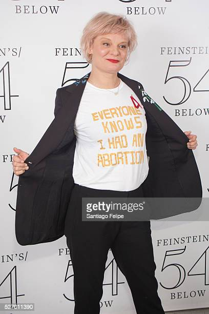 Martha Plimpton attends Broadway Acts For Women A StarStudded Night Of Karaoke And Comedy at 54 Below on May 1 2016 in New York City