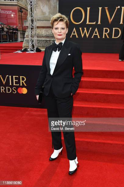 Martha Plimpton attends The Olivier Awards 2019 with Mastercard at The Royal Albert Hall on April 7, 2019 in London, England.