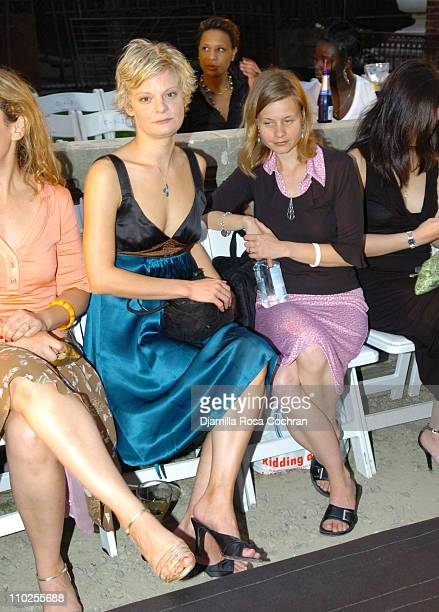 Martha Plimpton during Olympus Fashion Week Spring 2006 Cynthia Rowley Front Row and Backstage at Elizabeth Street Garden in New York City New York...