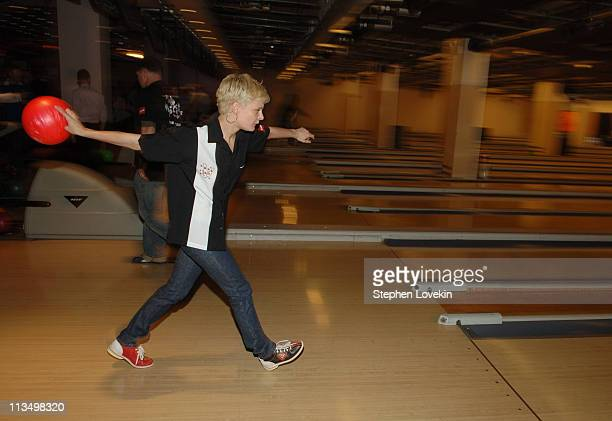 Martha Plimpton during Second Stage Theatre's 20th Annual AllStar Bowling Classic at Leisure Time Bowling Lanes in New York City New York United...