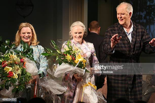 Martha Plimpton Glenn Close and John Lithgow during a tearful Opening Night Curtain Call for 'A Delicate Balance' with a 'Happy Trails to You'...