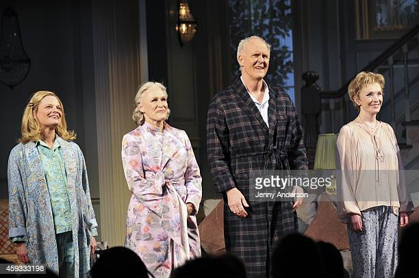 Martha Plimpton Glenn Close John Lithgow and Lindsay Duncan during curtain call for the Broadway opening of 'A Delicate Balance' at Golden Theatre on...