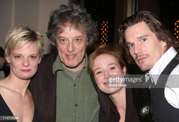 Martha Plimpton Tom Stoppard playwright Jennifer Ehle and Ethan Hawke