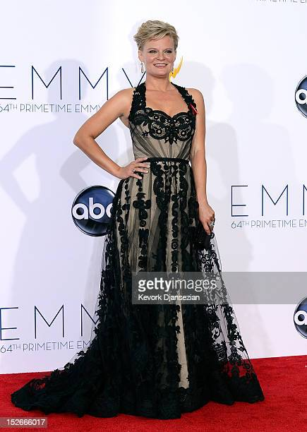 Martha Plimpton winner Outstanding Guest Actress in a Drama Series poses in the press room during the 64th Annual Primetime Emmy Awards at Nokia...