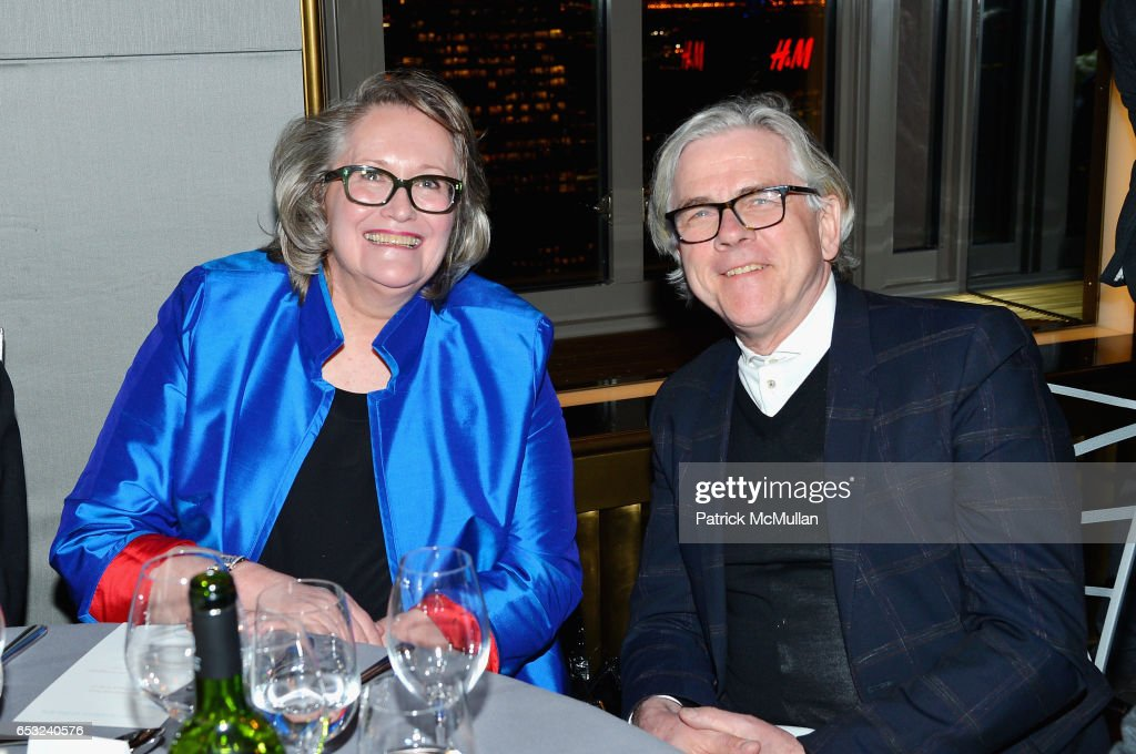 Martha Qualben and Juergen Riehm attend the Guild Hall Academy of the Arts Achievement Awards & Benefit Dinner at The Rainbow Room on March 13, 2017 in New York City.