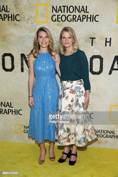 Martha Raddatz and her daughter Greta Bradlee attend the premiere of National Geographic's The Long Road Home at Royce Hall on October 30 2017 in Los...