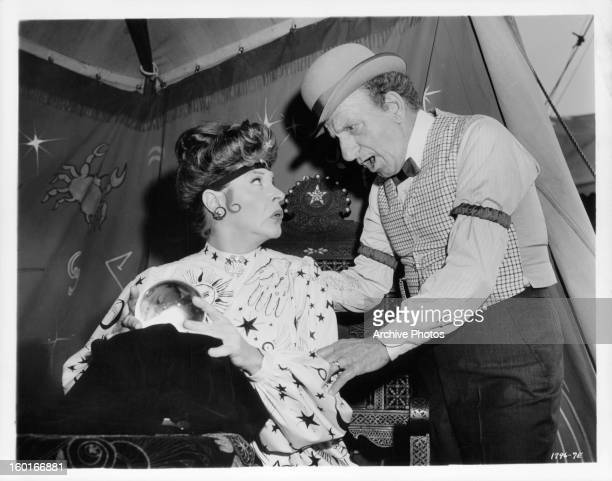 Martha Raye is approached by Jimmy Durante in a scene from the film 'Jumbo' 1962