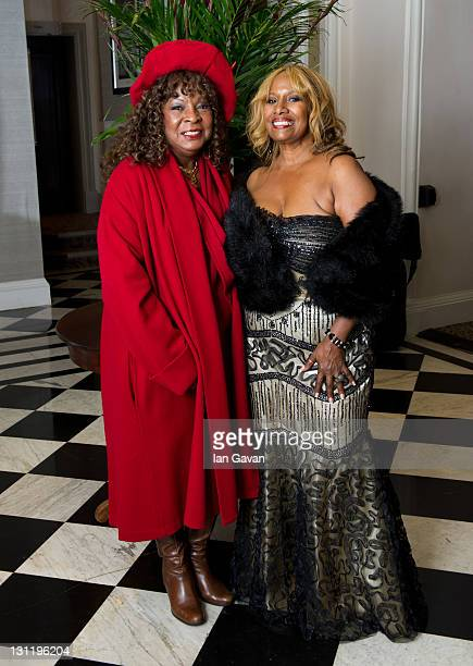 Martha Reeves and Brenda Holloway arrive at the afterparty of 'Michael Jackson The Life Of An Icon' at the Connaught Rooms on November 2 2011 in...