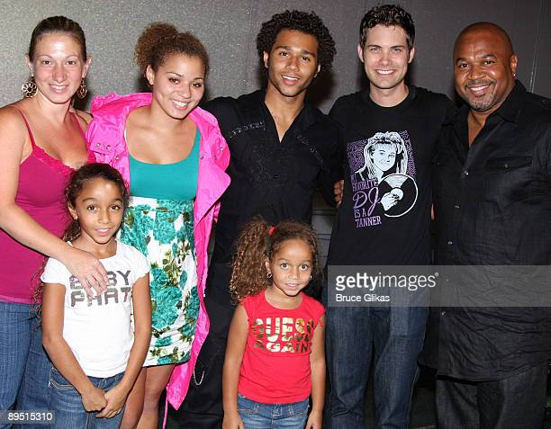 Martha Reivers Jag Reivers Corbin Bleu Hunter Reivers Phoenix Reivers Drew Seeley and David Reivers pose backstage at The Little Mermaid on Broadway...