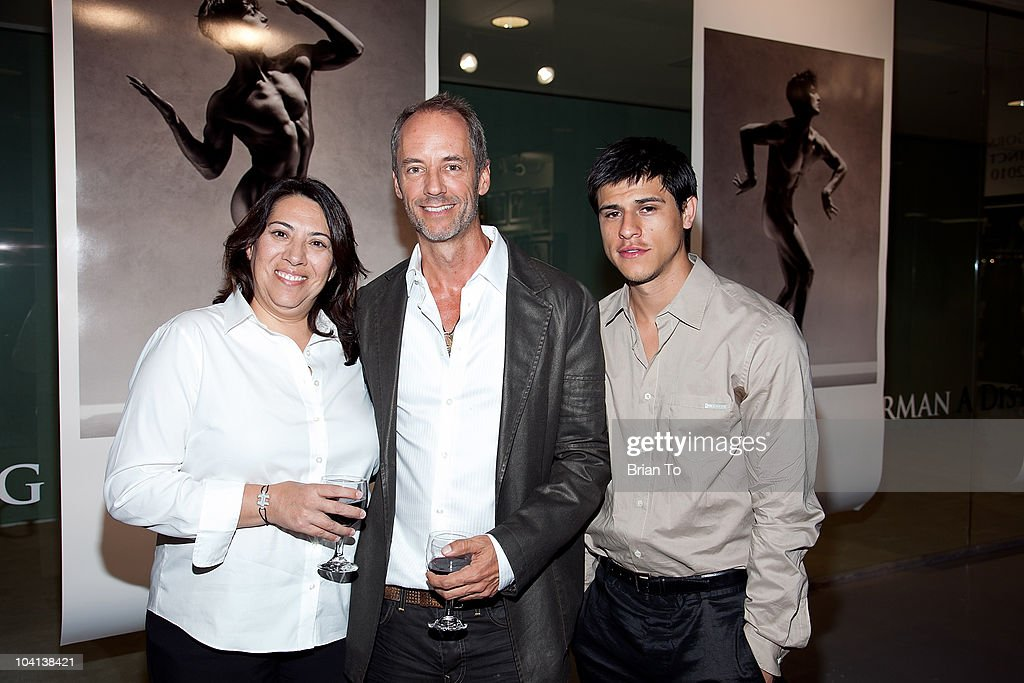 Martha Sanchez, Brett Lawyer and Marcelino Rosas attend the opening night reception of 'Greg Gorman: A Distinctive Vision 1970-2010' at Pacific Design Center on September 15, 2010 in West Hollywood, California.