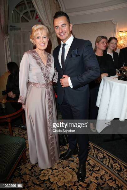 Martha Schneider mother of Silvia Schneider and Andreas Gabalier during the presentation of the collection 'Dressing Gown' and perfume of fashion...