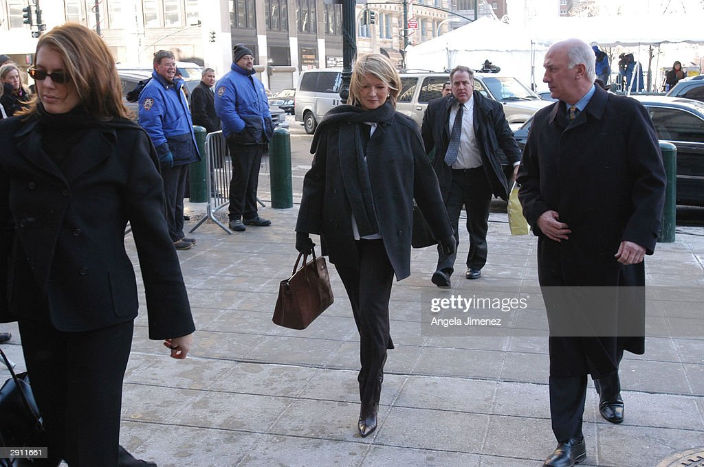Martha Stewart Arrives At Federal Court In New York City : News Photo
