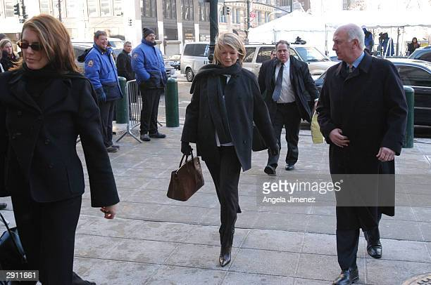 Martha Stewart accompanied by her daughter Alexis arrives at federal court January 29 2004 in New York City Stewart is charged with obstruction of...