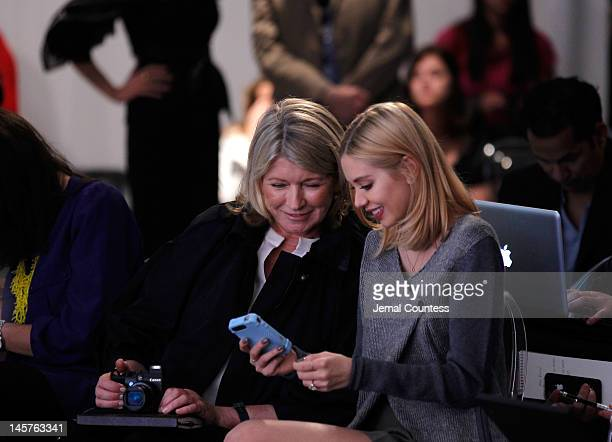 Martha Stewart and Alexandra Lenas at the Airtime Launch Press Conference at Milk Studios on June 5 2012 in New York City