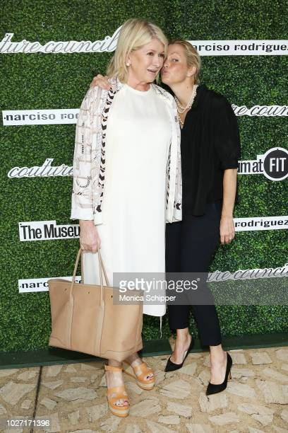 Martha Stewart and Ali Wentworth attend the 2018 Couture Council Award Luncheon at David H Koch Theater at Lincoln Center on September 5 2018 in New...