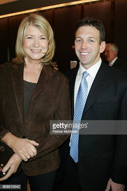 Martha Stewart and Andrew Borrok attend MARTHA STEWART SIRIO MACCIONI and ANDREW BORROK Host a Lucheon to Celebrate 'NO RESERVATIONS' at Le Cirque on...
