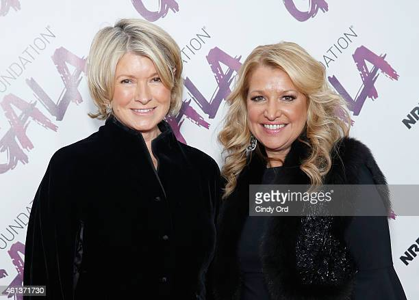Martha Stewart and CEO HSNI Mindy Grossman attend the NRF Foundation Gala on January 11 2015 in New York City